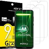 NEW'C 3 Stück, Schutzfolie Panzerglas für Motorola Moto G7, Frei von Kratzern, 9H Festigkeit, HD Bildschirmschutzfolie, 0.33mm Ultra-klar, Ultrawiderstandsfähig