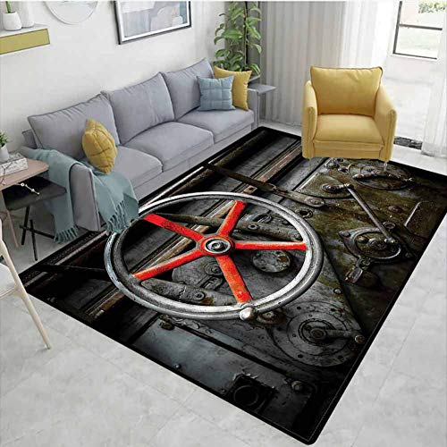 Sale!! TableCoversHome Industrial Geometric Floor Comfort Mats, Old Technology Workshop Pattern Prin...
