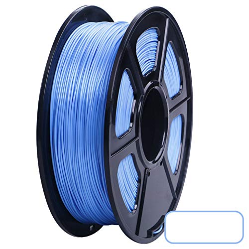 3D Printer PLA Filament 1.75mm Filament Dimensional Accuracy +/-0.02mm 2.2LBS 3D Printing Material for RepRap(light blue)