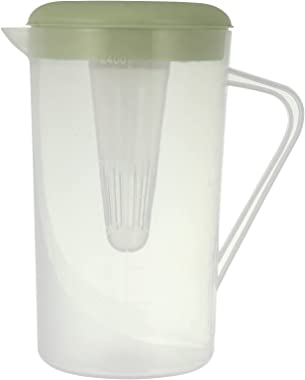 UPKOCH Water Pitcher with Lid Drink Pitcher Ice Tea Kettle Coffee Carafe Jug Contaniner for Beverage Juice Milk Lemonade Gree
