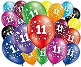 FABSUD Globos de cumpleaños 11 años – Lote de 20 globos 11