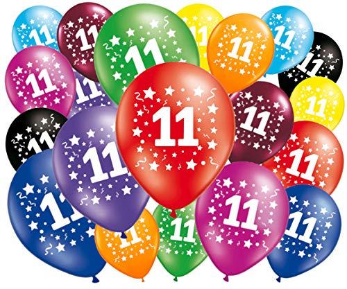 Fabsud Luftballons zum Geburtstag, 11 Jahre, 20 Stück