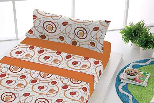 Sabanalia flanellsängkläder dans (finns i olika storlekar och färger) säng 80 cm orange