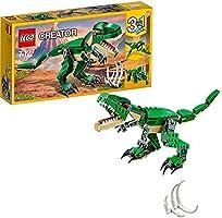 LEGO Creator Dinosauro, Modello 3 in 1,Figure del Triceratopo e Pterodattilo,Sistema di Costruzione Modulare, 31058