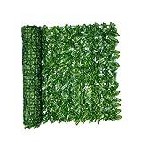Foglia Fence Pannelli foglia artificiale schermo Hedge recinto privacy Rotolo parete Watermelon Foglia abbellimento esterno giardino del cortile Balcone 0.5x1M