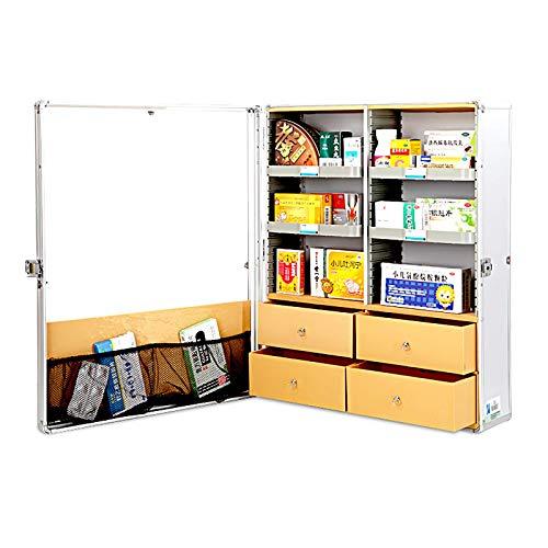 AOSHEN Caja de Medicina montada en Pared Caja médica de Gran Capacidad Caja de Primeros Auxilios Mueble de Almacenamiento Multi-Capa Gabinete de Medicina,L