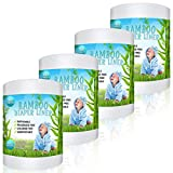 Disposable Cloth Bamboo Diaper Liners – Eco-Friendly, Fragrance Free & Chlorine Free, Flushable Biodegradable Reusable Liners for Cloth Diaper 100 Sheets per roll