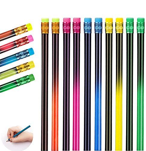 15pcs Zeichnung Buntstift,Farbwechsel Stift,Schwarz Wechsel In Farben Wechsel Stimmung Bleistift, Thermochrome Wechsel Stifte,Holzstifte Bunt-Thermochrom (15pcs)