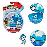 Bandai – Pokémon – Poké Ball & Figura Clip 'N' Go – 1 Scuba Ball + 1 Figura de 5 cm Tiplouf (Piplup) – Accesorio para disfrazarse en Dressor Pokémon – WT97899