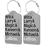 Best Players All The Times - Etiquetas para equipaje de baloncesto con correas ajustables para...
