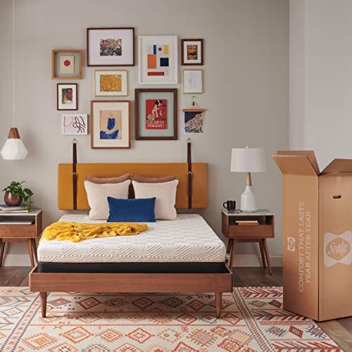 Sealy 6-Inch Low Profile Foam Bed in a, Medium, 15,2 cm Niedrigprofil-Memory-Schaumstoff-Bett in Einer Box, mittelgroß, Twin, weiß