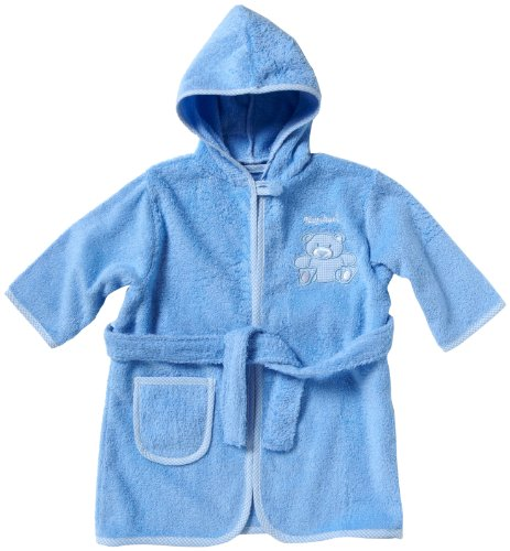 Playshoes Frottee -Bademantel 98/104 Bleu (340101) - Bleu - Bleu - 3 Ans