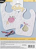 Bucilla Stamped Cross Stitch Baby Bibs, ABC's