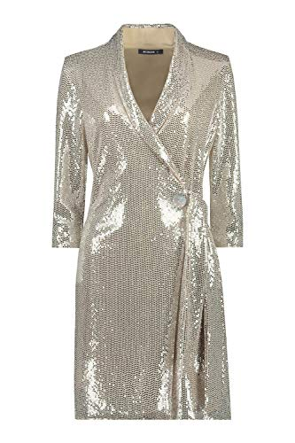 Romeinse Originelen Vrouwen Pailletten Feestjurk - Dames Feest Gelegenheden Kerstmis Oudejaarsavond Glam Disco Sparkle Glitter Metallic Shiney Blazer Tuxedo Wrap Avondjurk