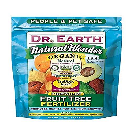 Dr. Earth 708P Organic 9 Fruit Tree Fertilizer In Poly Bag, 4-Pound