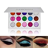VERONNI Pro Glitter Eyeshadow Palette-15 Colors Mineral Ultra Pigment & Shimmer Pressed Glitter Powder Eye Shadow Makeup Pallet Long Lasting Waterproof Cosmetic (15 Glitter Eyeshadow)
