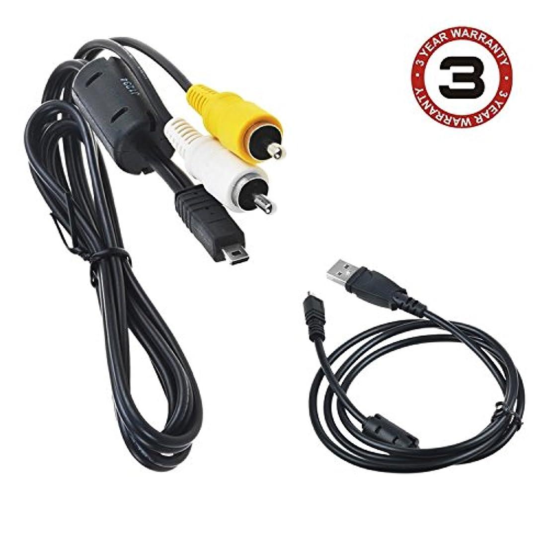 波音声学ラブSLLEA USBデータ+ AV A/V TVビデオケーブルコードfor Fujifilm FinePixカメラs2550?s2000?HD