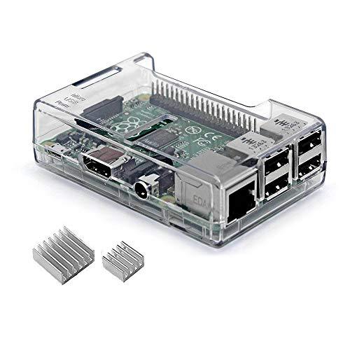 iuniker Raspberry Pi 3 B+ Gehäuse, Raspberry Pi 3 Gehäuse mit Kühlkörper, Raspberry Pi Gehäuse für Raspberry Pi 3 B+