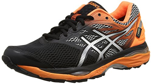 ASICS Gel-Cumulus 18 G-TX, Scarpe Running Uomo, Multicolore (Black/Silver/Hot Orange), 42.5 EU