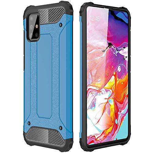 ANWEN Para Huawei Mate 40 Pro Funda, Robusta Armadura Híbrida TPU + PC [Doble Capa] Carcasa de Protección Hibrida Armadura Funda para Huawei Mate 40 Pro Smartphone-Azul