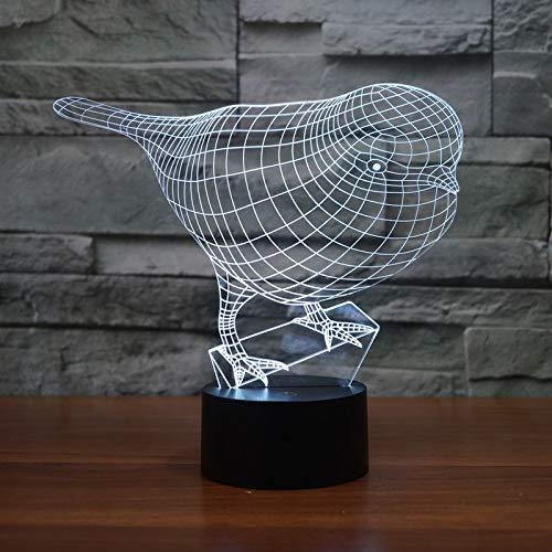 Luz de noche de ilusión 3D con decoración fresca led que cambia de color, se utiliza para artículos domésticos, lámpara de mesita de noche inteligente