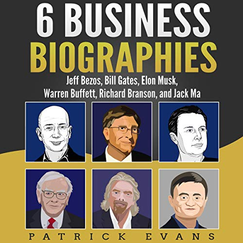 6 Business Biographies audiobook cover art