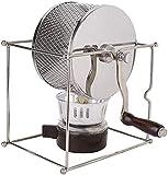 XJYDS Máquina de Tostado de Frijol de café Mini Manual de café de Granos de café Bricolaje Máquina de Tostador de Acero Inoxidable Rodillo de Rodillo con asa, Capacit 300g