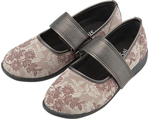 SaiSai〜フラワープリント〜 婦人用 23.0cm クラシックベージュ W941 (マリアンヌ製靴) (シューズ)