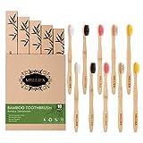 10pcs Brosse Dents en Bambou Biodgradable cologique Vgtalien Brosse Dents en Bois
