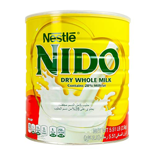 Nestle Nido Milk Powder, Imported from Holland, Specially Formulated, Fortified with Vitamins and Minerals, Easy To Prepare, over 12 months, 5.51 LBS