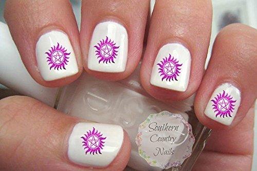 Super Natural Pink Nail Decals Nail Art Design