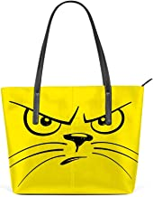 Kuizee Shoulder Bags Tote Handbags PU Leather Decoration Casual School Shopping 15.7In