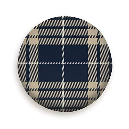 Blauwgrijs Schotse ruit Plaid Traditioneel Textiel Schoonheid Mode Reservewiel Bandafdekking Waterdicht Stofdicht Universeel voor veel voertuigen