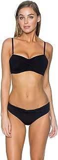 Women's Underwire Twist Bandeau Bikini Top with Foam