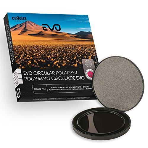 Cokin CV164-105A - Filtro polarizador C-PL EVO 105 mm para portafiltros EVO (tamaño L/Optico con Rosca de 105 mm), Color Negro