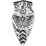 JONINOT Máscara deportiva a prueba de viento con cara impresa unisex, tatuajes, polaina, bufanda, pasamontañas para montar en motocicleta, pescar al aire libre.