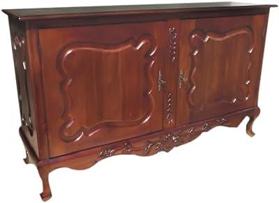 La Credenza In English : Amazon.com regency antique reproduction mahogany sideboard