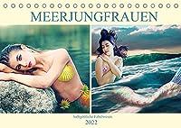 Meerjungfrauen - halbgoettliche Fabelwesen (Tischkalender 2022 DIN A5 quer): Meerjungfrauen fuer Fantasy Fans (Monatskalender, 14 Seiten )