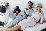 Rock Hudson & Doris Day Colour On Bed Smiling Poster, 61 x