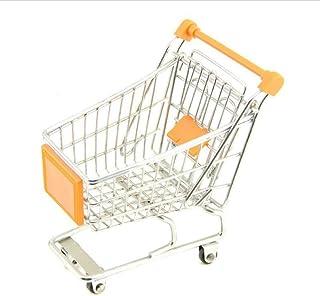 Toyvian ミニショッピングカート子供ふりプレイ玩具鉄化粧品収納食料品カートトロリー(1個ランダムカラー)
