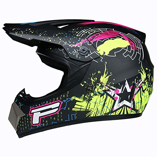 SHGK Casco de Moto Casco de Moto Niños DH Downhill Dirt Bikes,...