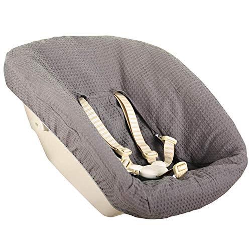 Bezug Stokke Tripp Trapp Newborn Set Altes Modell Öko-Tex 100 Baumwolle Recycelbar Schweißabsorbierend und Weich für Ihr Baby Farbe Grau