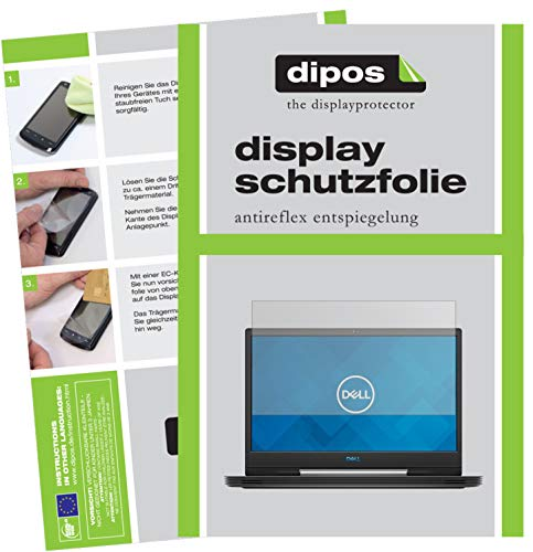 dipos I 2x Screen Protector matte compatible with Dell G5 15 5590 15.6 inch Protection Films