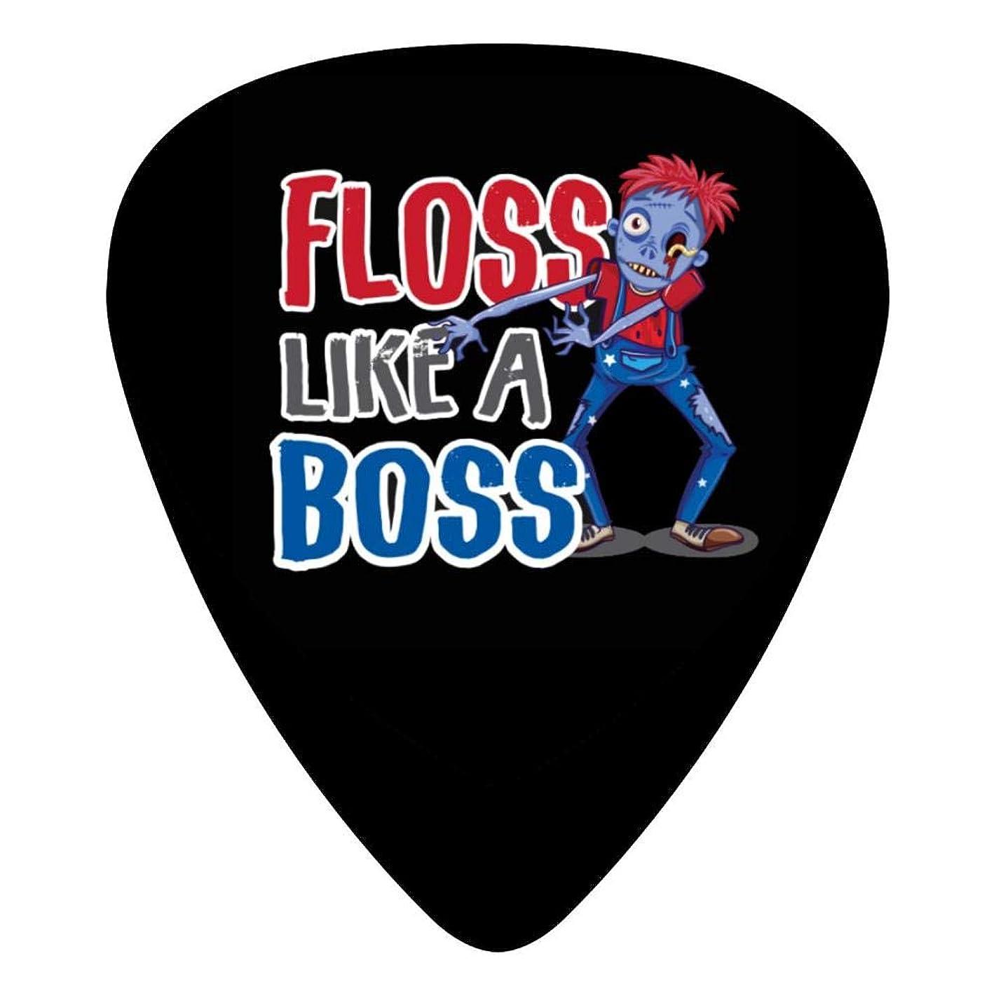 M100% 2018 Floss Like A Boss Dunlop Guitar Picks 12-Pack Celluloid Paddles Plectrums 0.46mm/ 0.71mm/ 0.96mm DIY Fender Guitar Bass