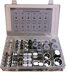 High Quality Carbon Steel JIC 37° Flare Cap & Plug Fittings Kit Package Quantity: 64-Pieces, All of Product Will Be Packed in A Sturdy Transparent Plastic Case, Can Be Use for A Storage Box
