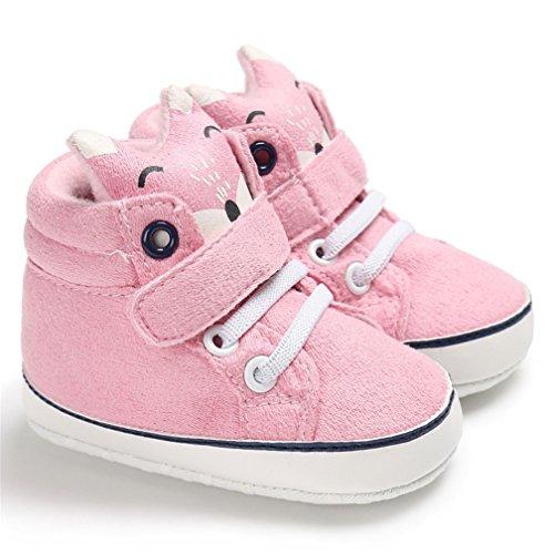 Zapatos de bebé, Kfnire otoño Invierno Suela Blanda Zapatos de tacón Alto Botas Antideslizantes Zapatos para niños