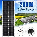 LAMP-XUE Panel Solar Panel Solar 18V 200W Flexible silicio monocristalino de Ciclo al Aire Libre de Escalada Que va de excursión Solar Batter