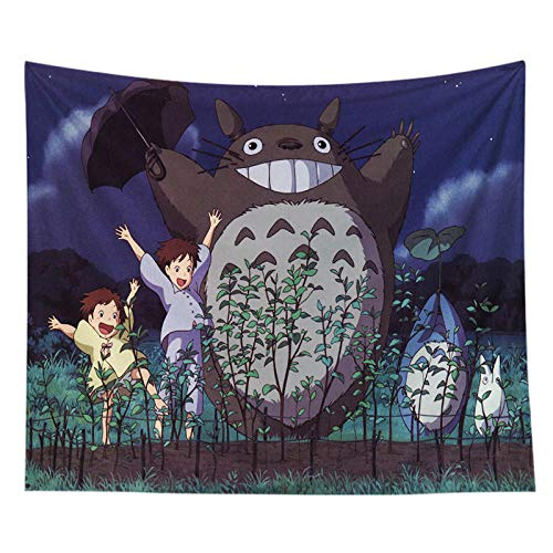 Anime My Neighbor Totoro Tapestry Wall Hanging Hippie Polyester Home Decor Blanket Fabric Wall Cloth Sleeping Pad-4_150*200CM