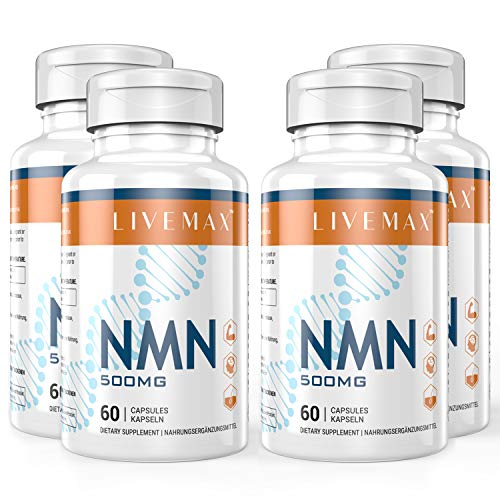 NMN Nicotinamide Mononucleotide Supplement, NAD Booster Supplement, Vitamin B3 Family - Support NAD, Anti Aging Skin Cell Health & Energy (livemax-4 Pack)