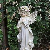 NYKK Ornamento de Escritorio Resina de Colección Figurita la decoración del hogar, estatuas orantes Ángel al Aire Libre artesanías decoración (Color : B)